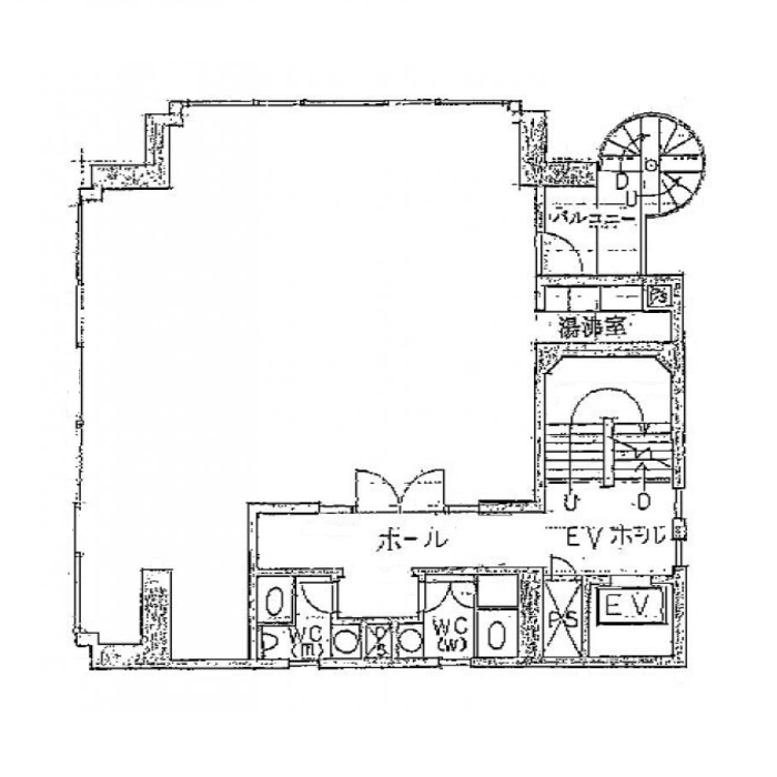 名駅2 東山ビル 平面図