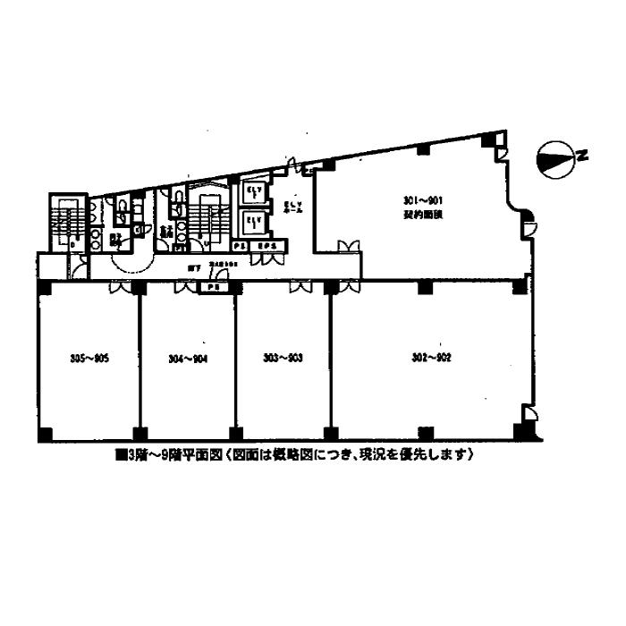 葵2 ふぁみ~ゆ葵ビル 平面図