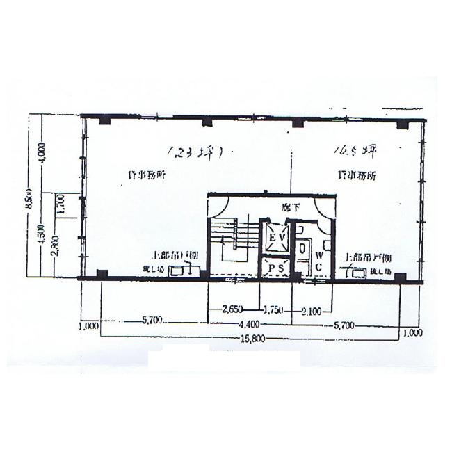 牛島町 カネヒサビル 平面図