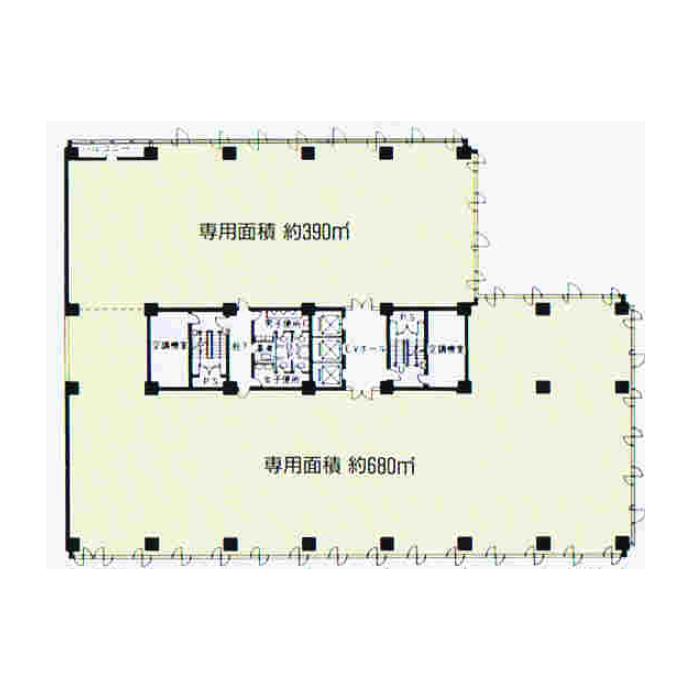 丸の内3 名古屋丸の内ビル 平面図