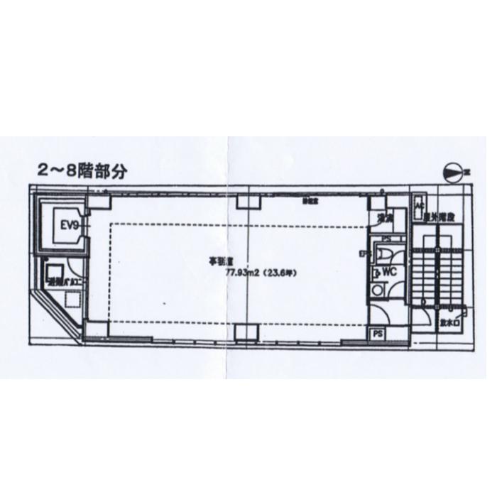 泉1 ザ・セントラルイースト2122 平面図