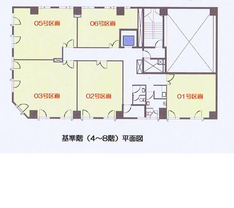 名駅4 第2森ビル 平面図
