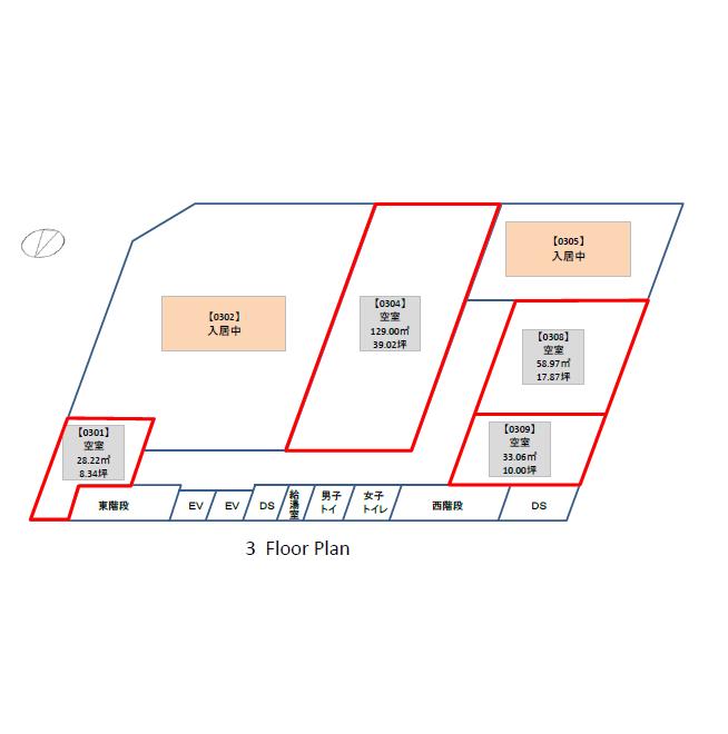 錦3 中央広小路ビル 平面図