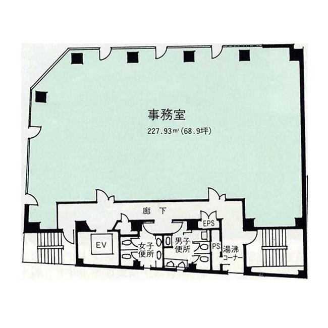 椿町 ナゴヤ大和ビル 平面図
