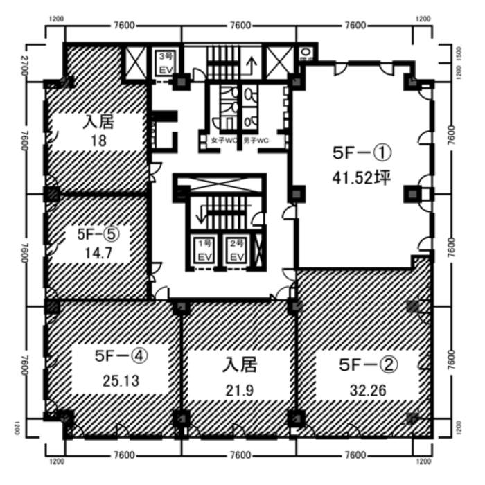 橦木町1 日本棋院中部会館 平面図