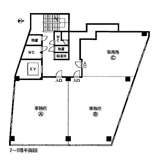 横田1 フジ神宮ビル 平面図