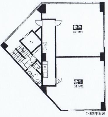 大須4 名商ビル 平面図