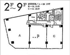 名駅3 第2千福ビル 平面図