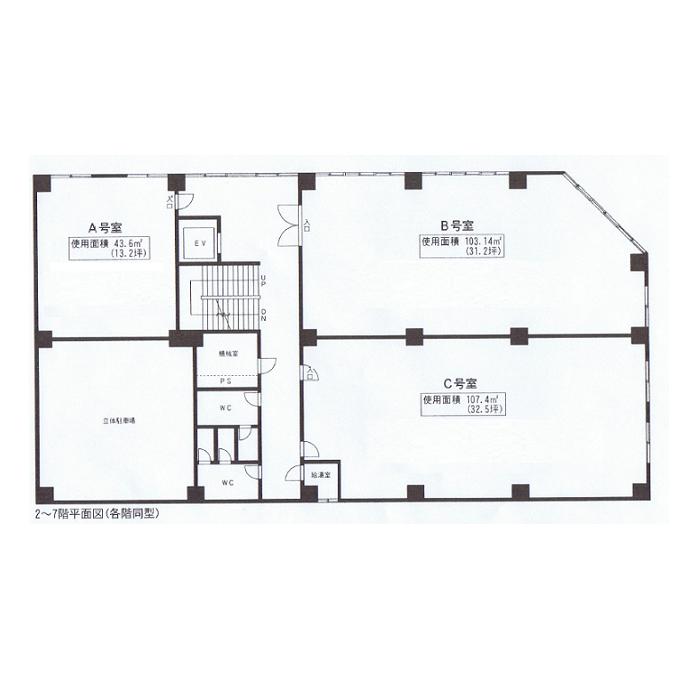 錦2 名和丸の内ビル 平面図
