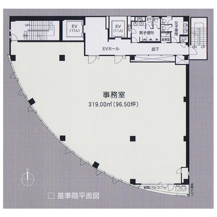 栄5 アルティメイトタワー栄Ⅴ 平面図