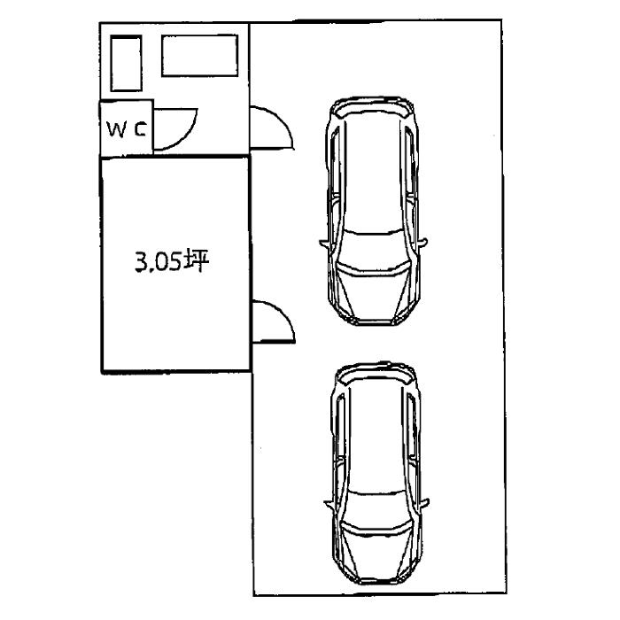 松原2 松原二丁目駐車場付事務所 平面図