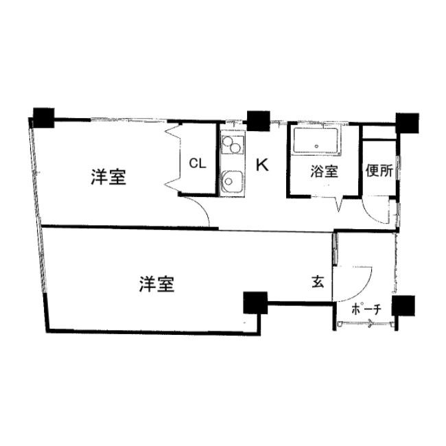 竹橋町 THE WHITE OISE 平面図