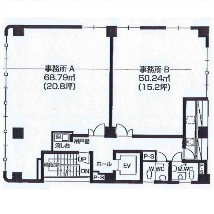 今池1 FUTABAビル 平面図