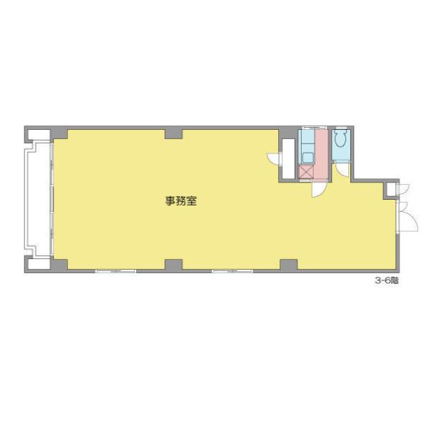 泉1 第一戸嶋屋ビル 平面図