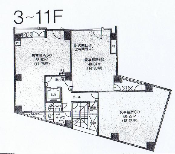 新栄2 アソルティ新栄 平面図