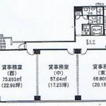 名駅4 西柳パークビル 平面図