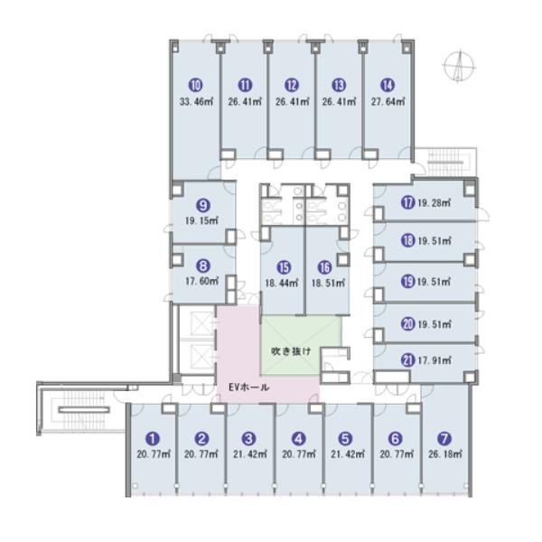 錦3 アーク栄錦ニュービジネスビル 平面図
