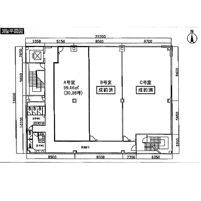 御器所通3 御器所セントラルビル 平面図