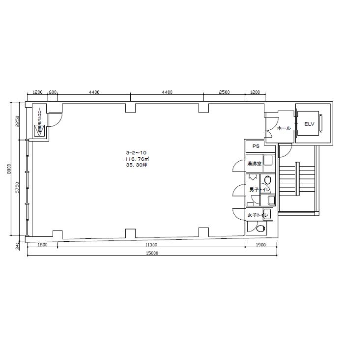 椿町 第3太閤ビル 平面図