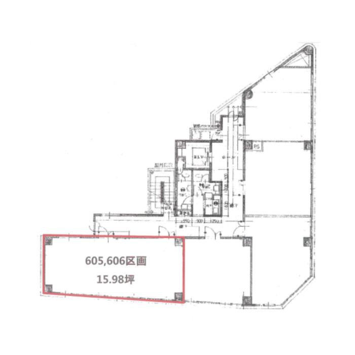 清水4 黒川ビル 平面図