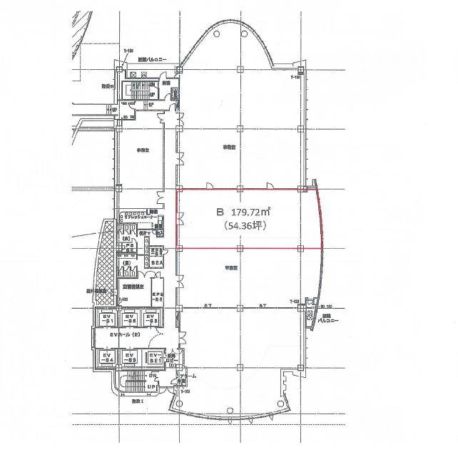 栄3 ナディアパークビジネスセンタービル 平面図