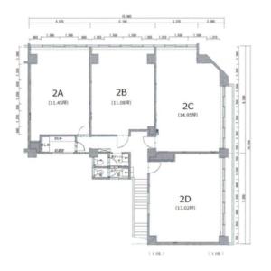 小林ビル 2階 平面図