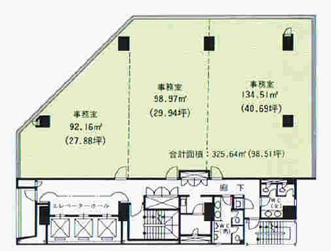 錦3 ジブラルタ生命名古屋錦ビル 平面図