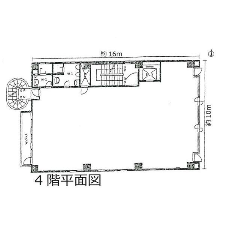 西日置1 木全ビル 平面図