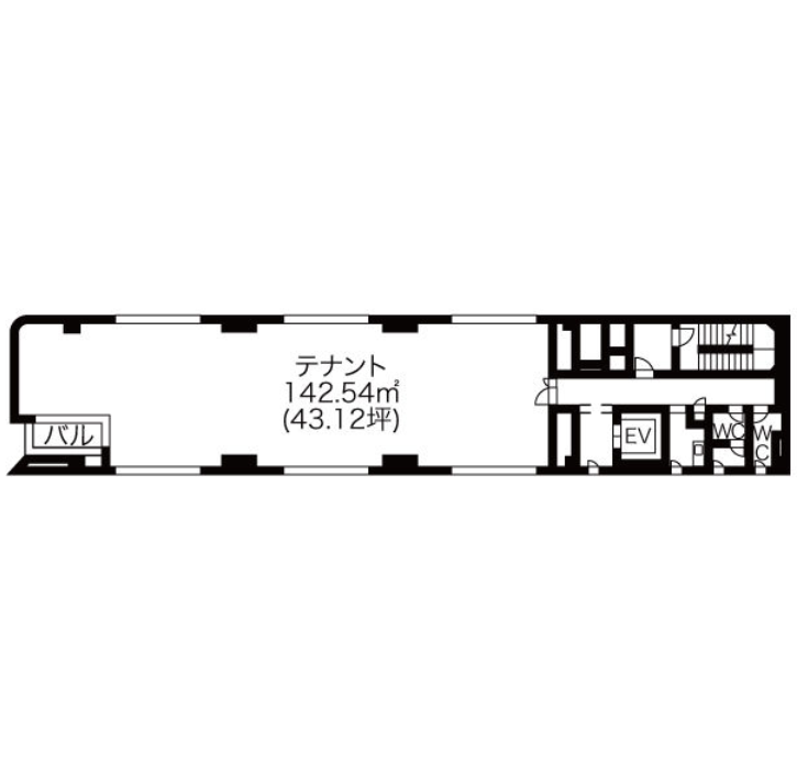 泉1 パークサイド1091ビル 平面図