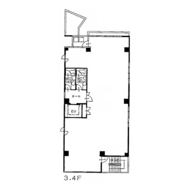 金山町1 トーワ金山ビル 平面図