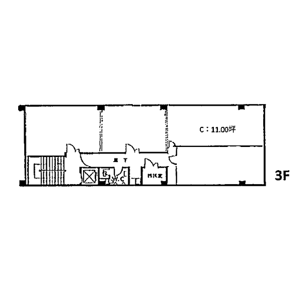 錦3 服部ビル 平面図