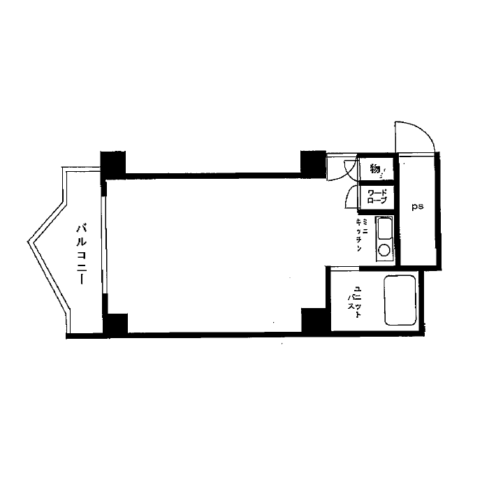 栄3 栄マンションS棟 平面図