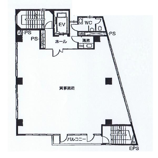 内山3 ガイビ社ビル 平面図