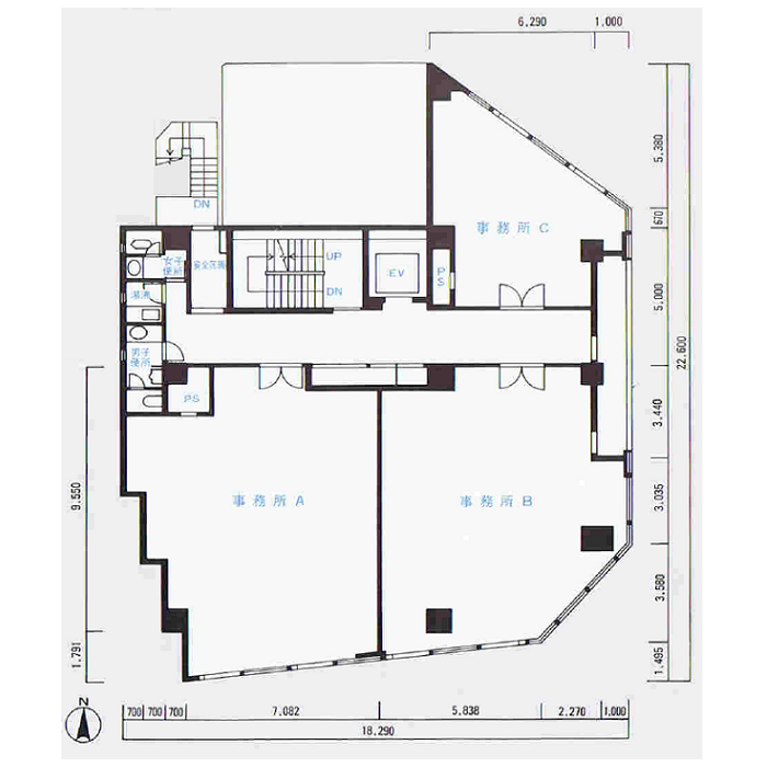 葵1 アーク新栄ビルディング 平面図