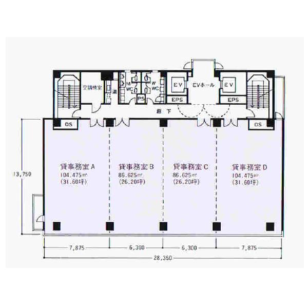 栄5 名古屋若宮ビル 平面図