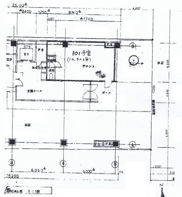 栄1 RSビル 平面図