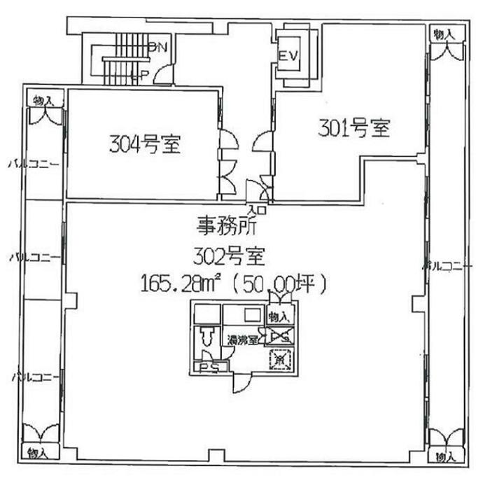 栄5 第二オーシャンビル 平面図