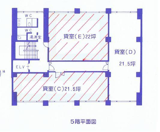 名駅南1 名南クリヤマビル 平面図