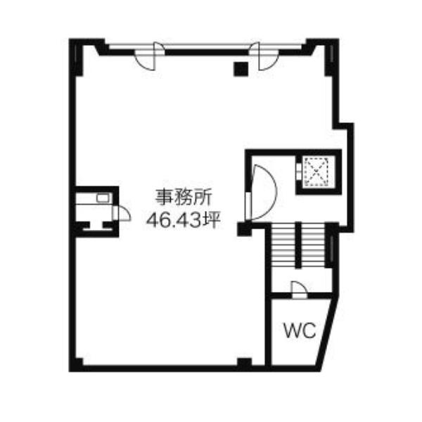 上社3 北村第一ビルディング 平面図