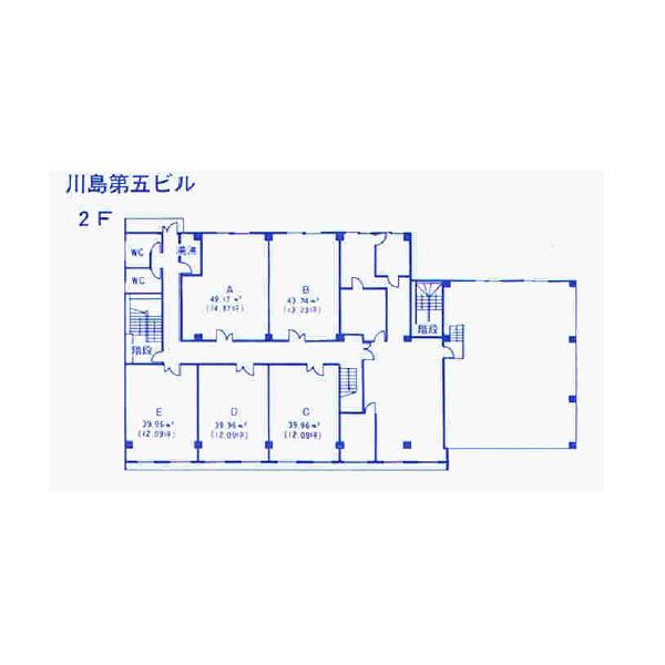 今池南 川島第五ビル 平面図