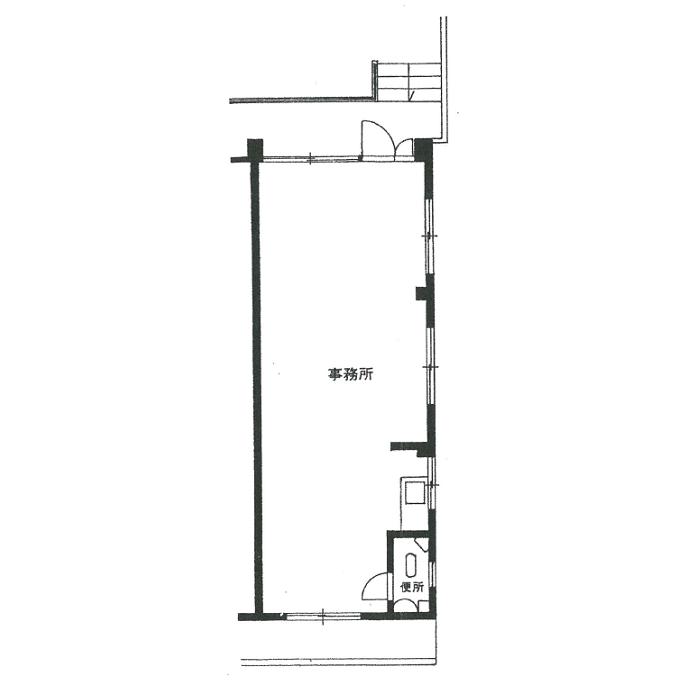 徳川町 宮川徳川町貸事務所 平面図