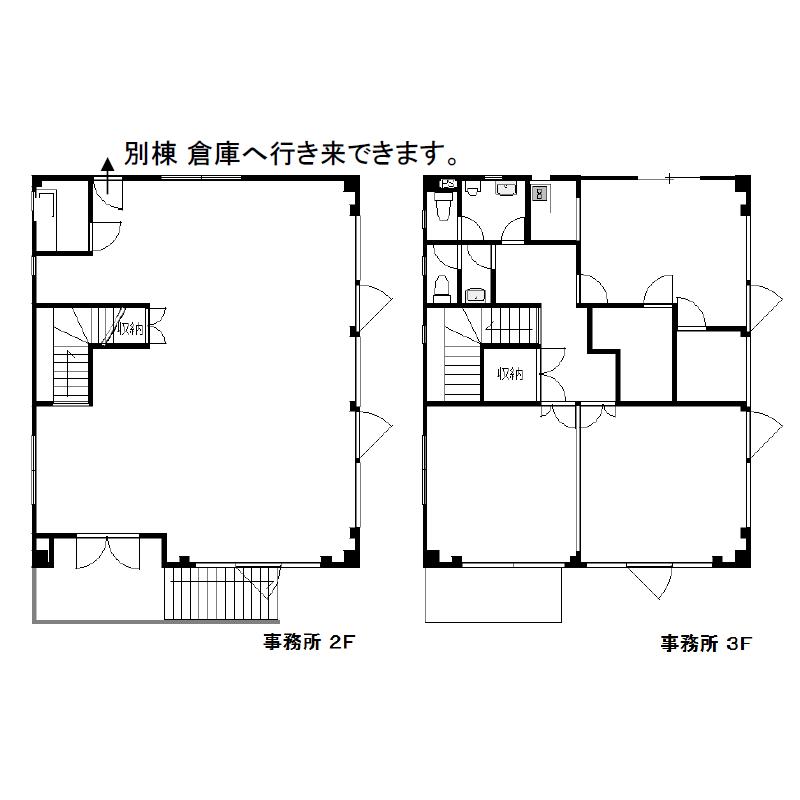垣戸町2 北区垣戸町貸事務所・倉庫 平面図