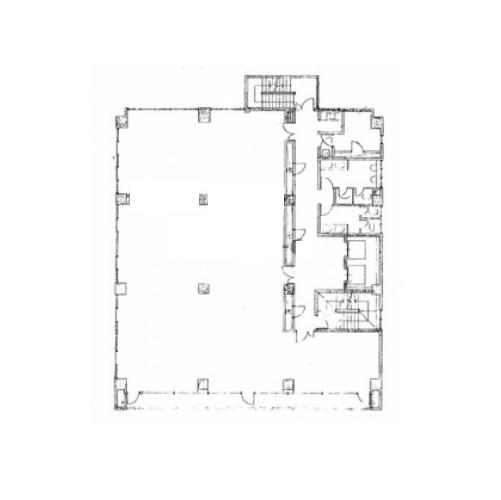 亀島2 フジオフィスビルディング 平面図