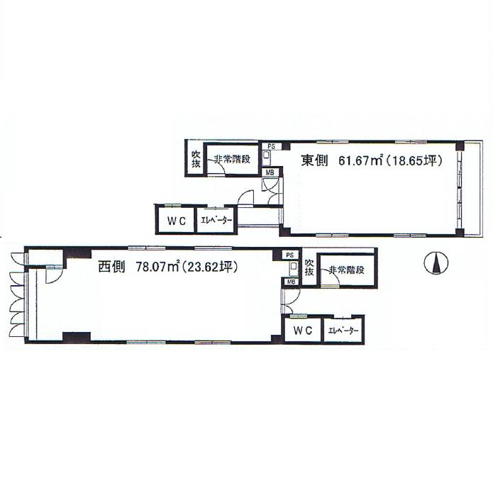 錦3 モリヤス錦ビル 平面図