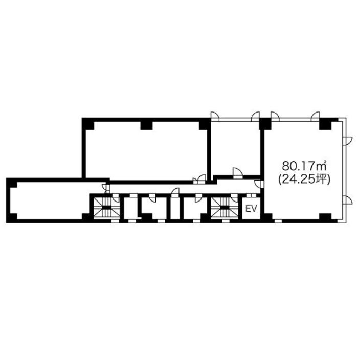 栄1 CK16伏見ビル 平面図