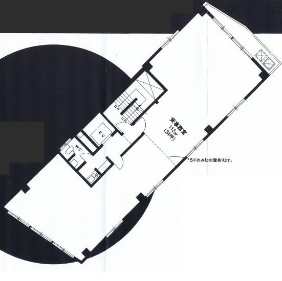 名駅4 サン六反ビル 平面図