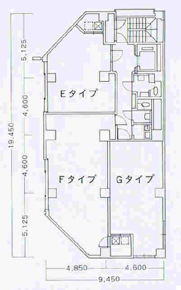 丸の内2 丸の内オフィスフォーラムビル 平面図