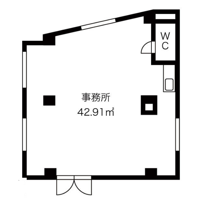 青柳町6 桜吹上ビル 平面図