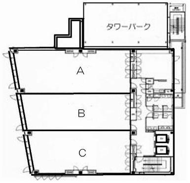 名駅2 メビウス名古屋ビル 平面図