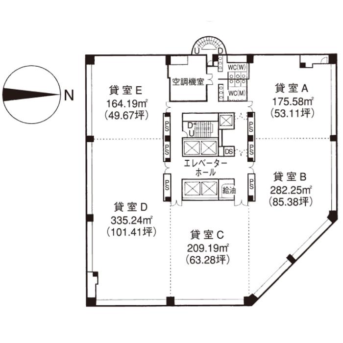 錦3 桜通大津第一生命ビルディング 平面図
